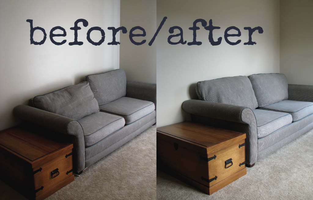 how to fix a frumpy couch