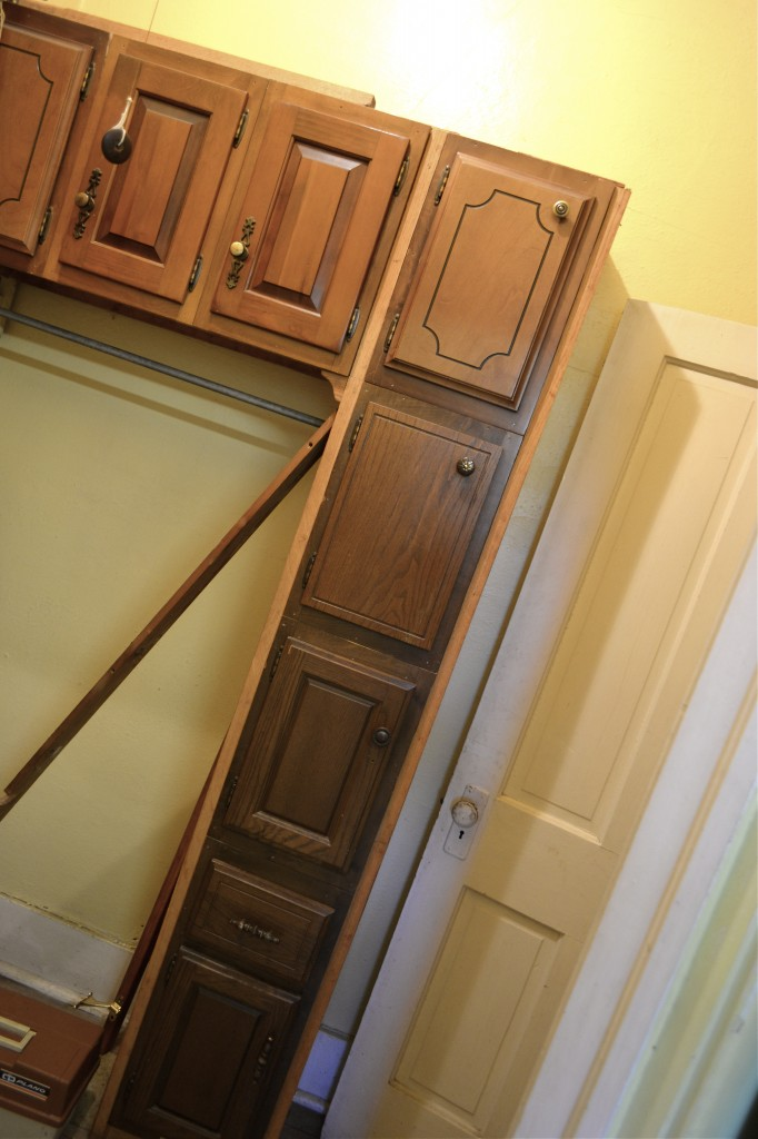 cupboard doors with all different hardware