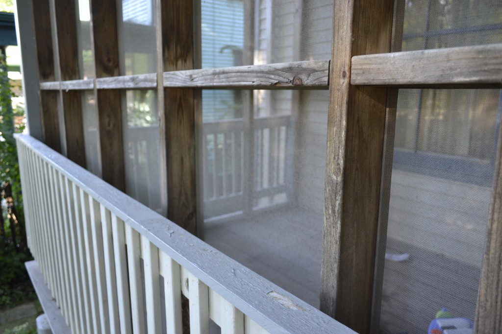 screened porch close up