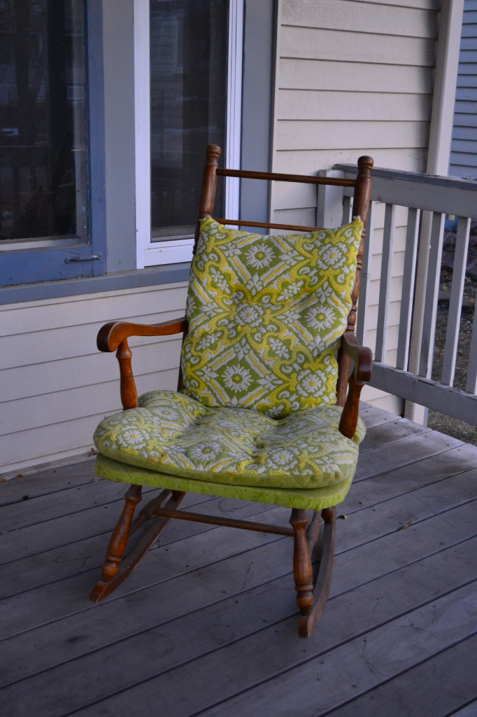 rocking chair to be reupholstered